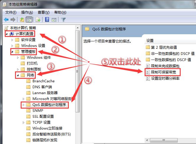 管理模板网络Qos数据包计划程序